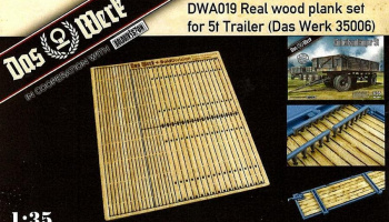 1/35 Real wood planking set for 5t Einheitsanhänger
