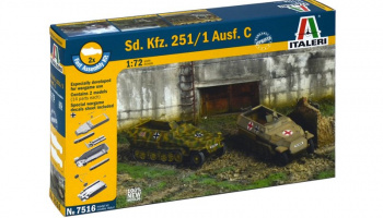 Fast Assembly military 7516 - Sd.Kfz.251/1 Ausf.C (1:72) – Italeri