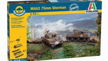 Fast Assembly tanky 7518 - M4A3 75 mm SHERMAN (1:72)