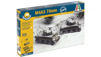 Fast Assembly tanky 7521 - M4A3 76mm (1:72)