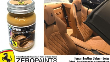 Ferrari Leather Colour Paints Beige - Zero Paints