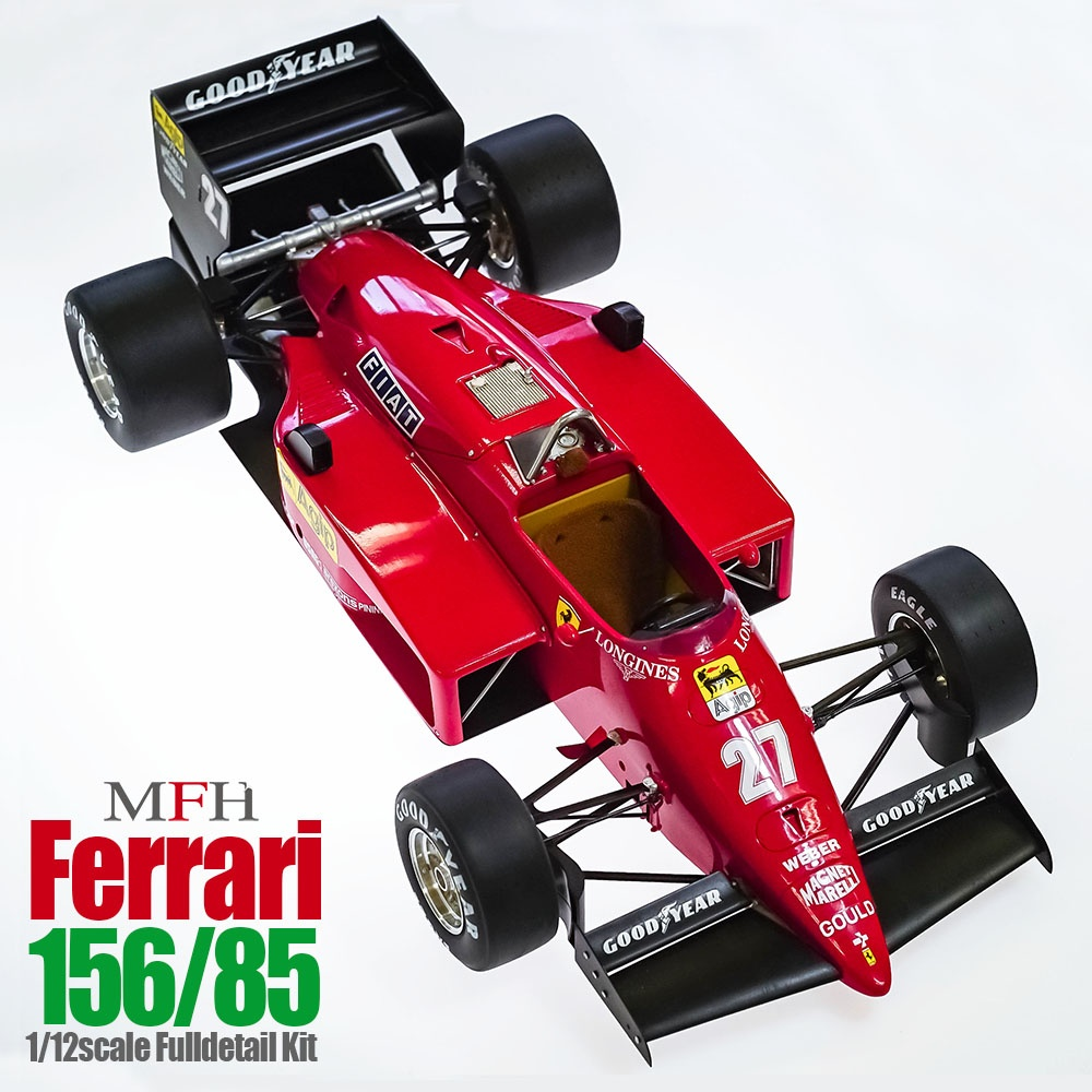 Ferrari 156 85 Fulldetail Kit 1 12 Model Factory Hiro Car Model Kit Com