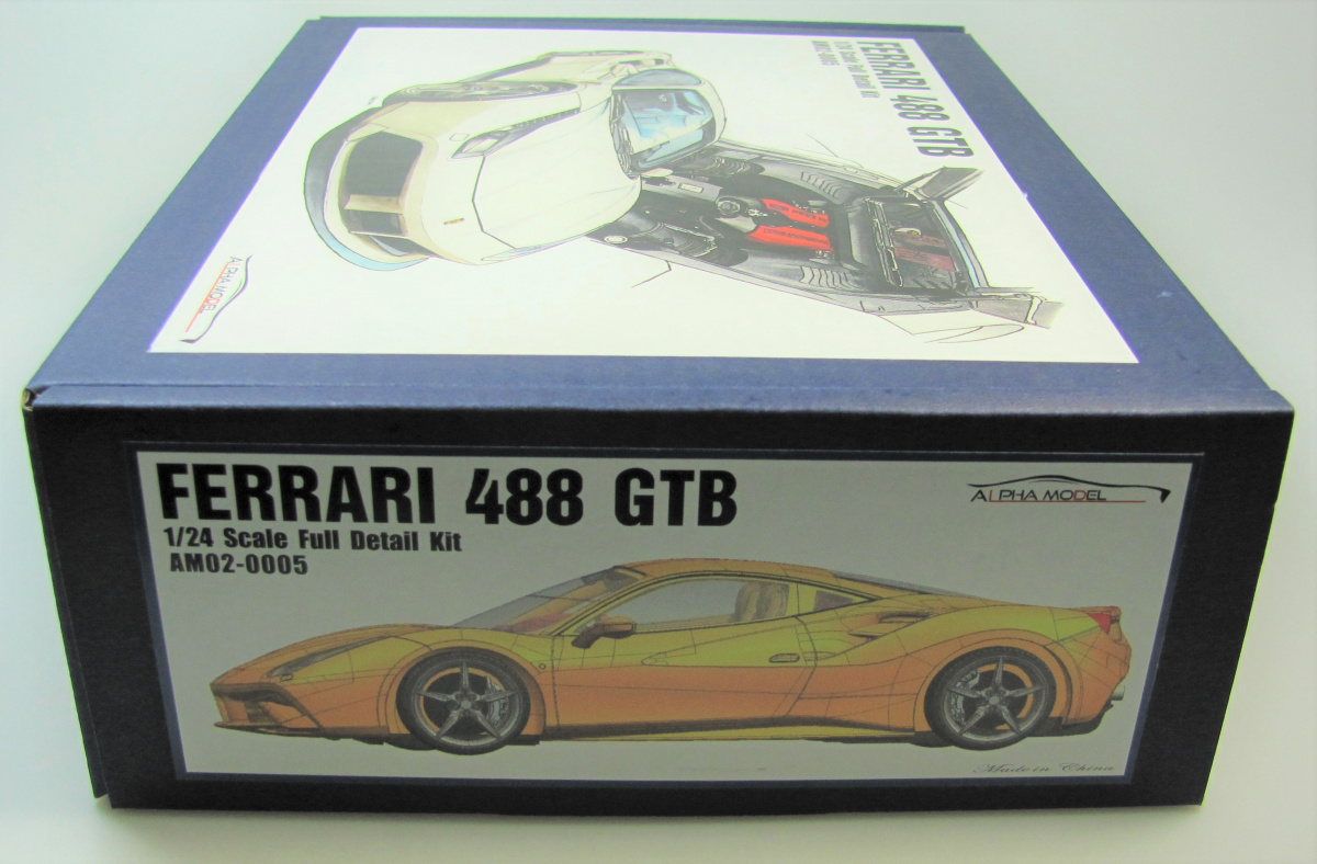 Ferrari 488 Gtb Full Resin Kit 1 24 Alpha Model Car Model Kit Com