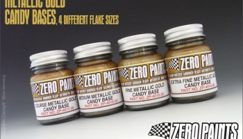 Fine Metallic GOLD Groundcoat for Candy Paints 60ml - Zero Paints