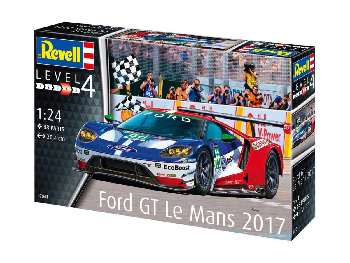 Ford Gt Le Mans Plastic Kit 1:24 Model REVELL
