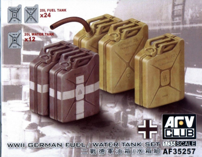 German Fuel/Water Tank Set 1/35 - AFV Club