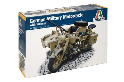 German Military Motorcycle with Sidecar (1:9) - Italeri Model Kit 7403