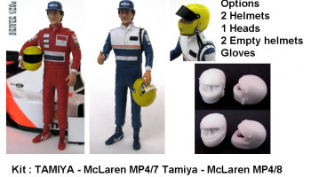 Driver Figure Senna McLaren 4/7,4/8 , Williams FW16 - GF Models