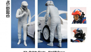Co-Driver Figure WRC Focus, Fiesta 1:24 - GF Models