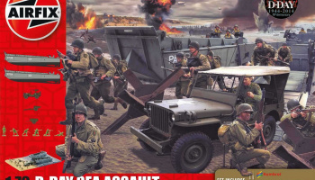 Gift Set diorama A50156A - D-Day 75th Anniversary Sea Assault (1:72) – Airfix