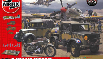 Gift Set diorama A50157A - D-Day 75th Anniversary Air Assault (1:72) – Airfix