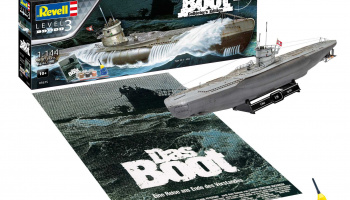 Gift-Set ponorka 05675 - Movie Set DAS BOOT - 40th Anniversary (1:144) - Revell