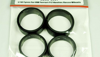 Tyres 1/18 For HW Ferrari F12 Novitec Rosso Wheels - Hobby Design