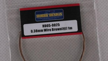 Drát 0.38mm Wire (Brown) 1m - Hobby Design