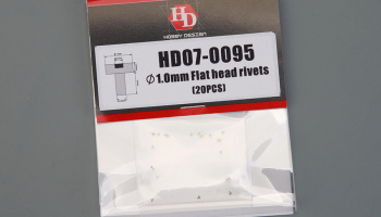 1.0mm Flat Head Rivets - Hobby Design