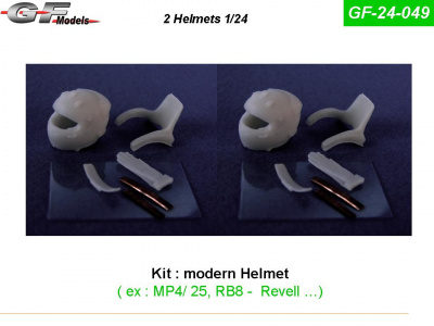 Helmets + Hans RB8,  MP4/25 1:24 - GF Models