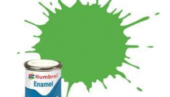 Humbrol barva email AA7081 - No 208 Fluorescent Signal Green - Gloss - 14ml