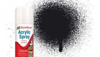 Humbrol sprej akryl AD6021 - No 21 Black - Gloss - 150ml