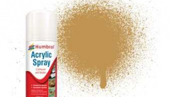 Humbrol sprej akryl AD6093 - No 93 Desert Yellow - Matt - 150ml