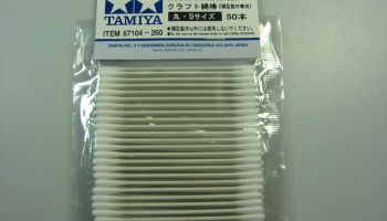 Craft Cotton Swab Round, Small, 50 pcs - Tamiya