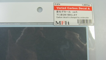 Varied Carbon Decal A - Model Factory Hiro