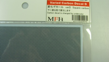 Varied Carbon Decal D - Model Factory Hiro