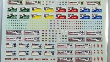 Plates 24 Heures LeMans 2003, 2004, 2005, 2006 - COLORADODECAL