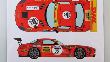 Mercedes SLS GT3 #35 Spa 24h Black Falcon Racing 2011 - Racing Decals 43