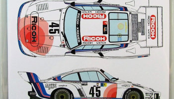 Porsche 935 K2  #45 Ricoh LM 1978 - Racing Decals 43
