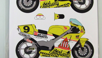 Honda NSR500 HB #9 P.F.Chili 1989 - Racing Decals 43
