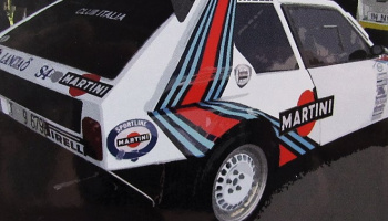 Window Frame Paint Masks 1/24 scale - Lancia Delta S4 - Decalcas