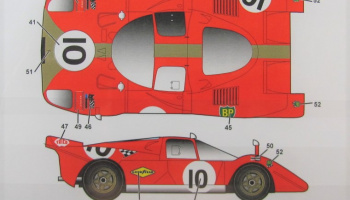 Ferrari 512S Gelo Racing Team #4,6,10, 1970 - Studio27
