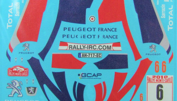 Peugeot 207 S2000 #6 Sarazzin Rally Monte Carlo 2010 - COLORADODECALS