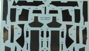 Ford GT Carbon Decal for Tamiya 24346 - Studio27