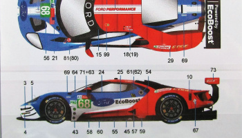 Ford GT Chip Ganassi Team #68 LeMans GTLM 2019 - Decalpool