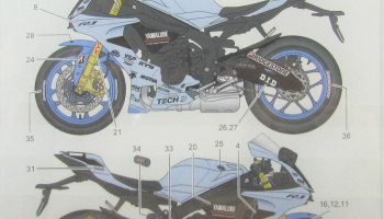 Yamaha YZF-R1M TECH21 Dress Up Decal - Studio27
