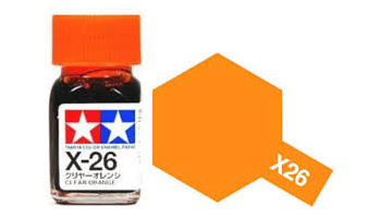 X-26 Clear Orange Enamel Paint X26 - Tamiya