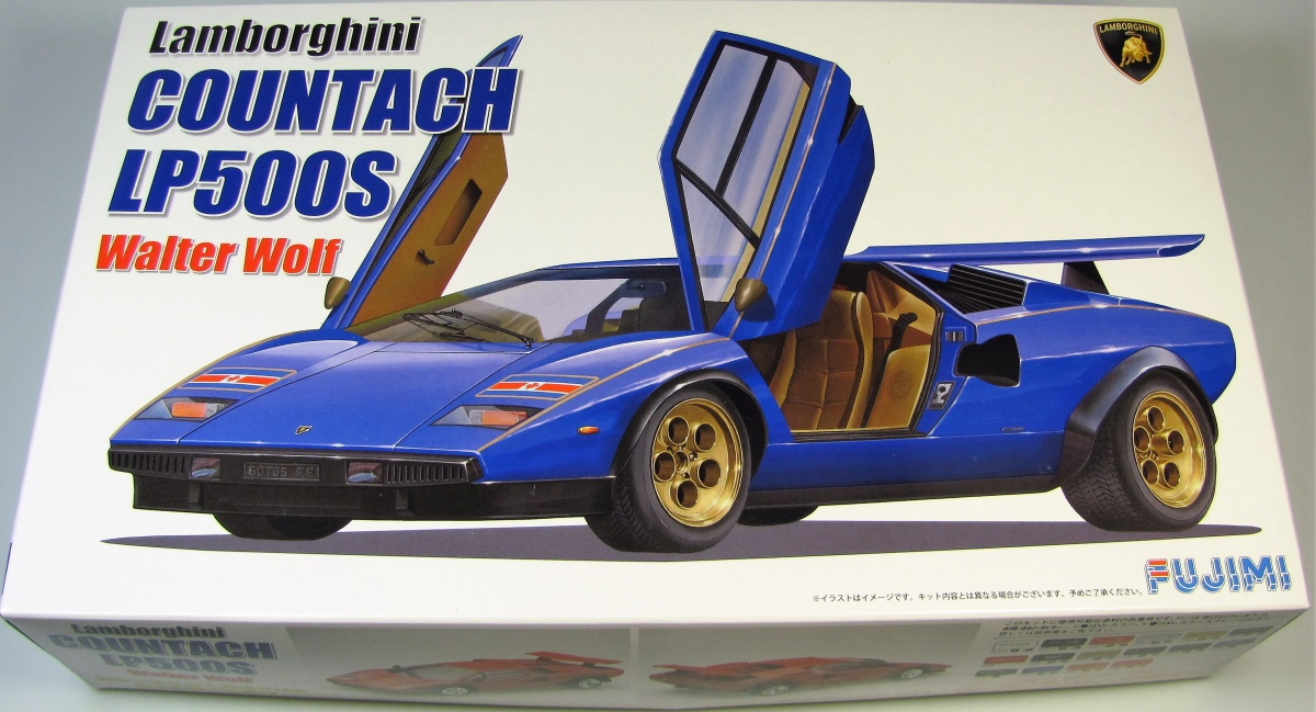 Lamborghini Countach Lp500s Walter Wolf Fujimi Car Model Kit Com