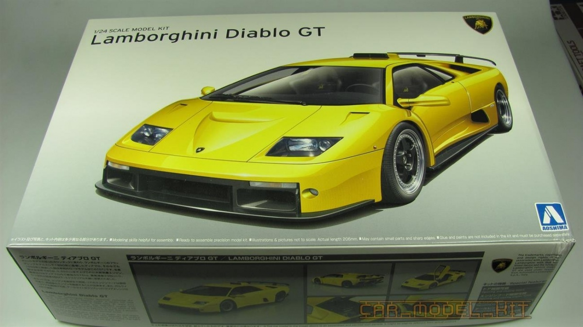 Lamborghini Diablo Gt Aoshima Car Model Kit Com