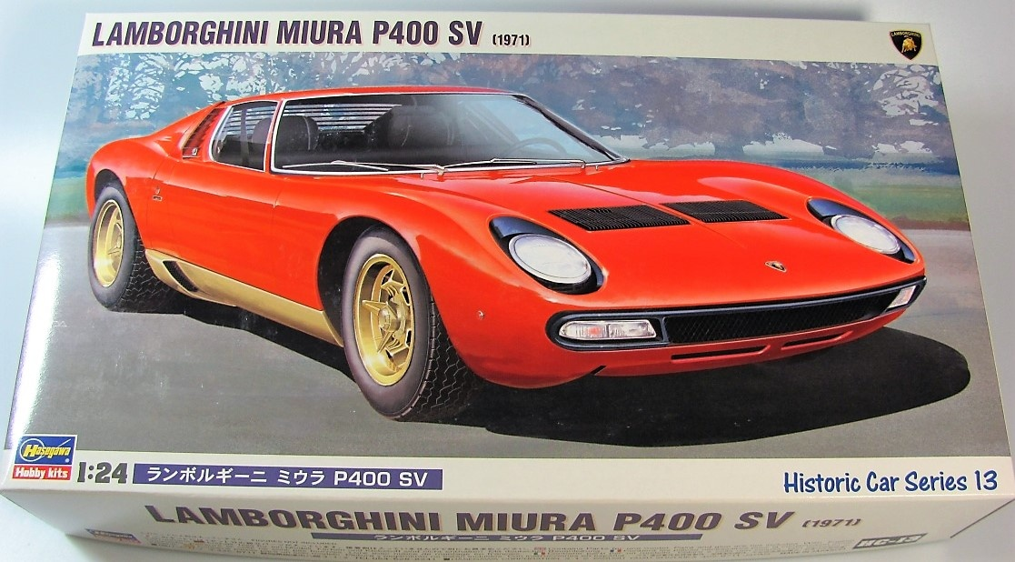 Lamborghini Miura P400 Sv Hasegawa Car Model Kit Com