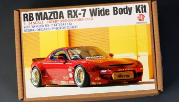 RB Mazda RX-7  Wide Body Kit For Tamiya RX-7 Kit 24116  (Resin+PE+Metal parts +Decals)(HD03-0512) - Hobby Design