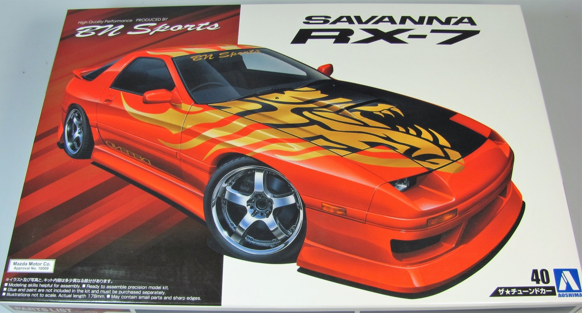 Mazda Savanna RX-7 - Aoshima | Car-model-kit com