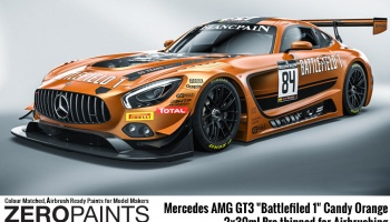 Mercedes AMG GT3 Battlefiled 1 Candy Orange - Zero Paints