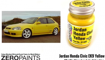 Jordan Honda Civic EK9 Yellow - Zero Paints