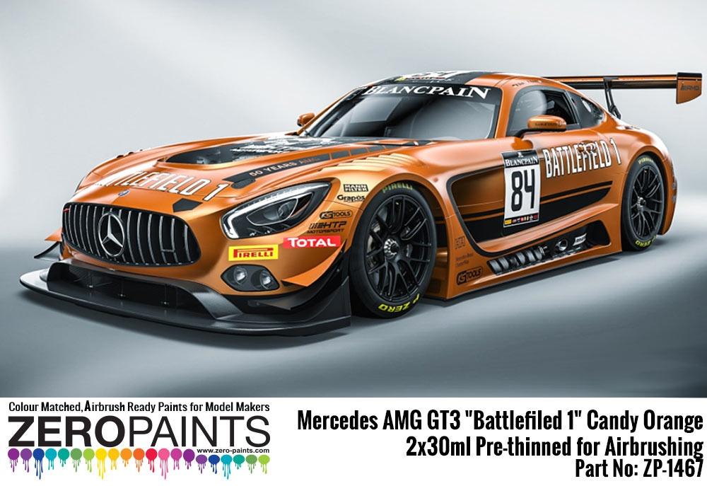 Mercedes Amg Gt3 Battlefiled 1 Candy Orange Zero Paints