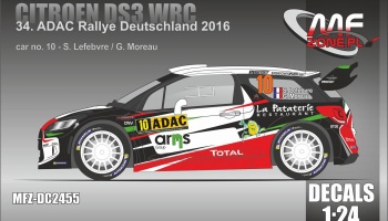 Citroen DS3 WRC 2016 ADAC Rally #10 Lefebvre - MF-Zone