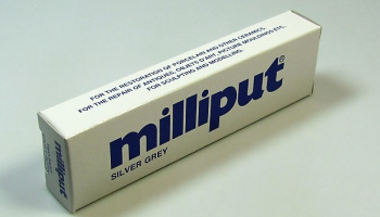Milliput Silver Grey Epoxy Putty - Milliput