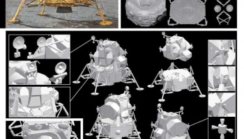 "APOLLO 11 LUNAR MODULE ""EAGLE"" (1:48) Model Kit 1008 - Dragon"