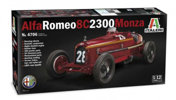 ALFA ROMEO 8C 2300 Monza (1:12) Model Kit 4706 - Italeri
