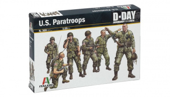 Model Kit figurky 0309 - U.S. PARATROOPS (1:35) – Italeri
